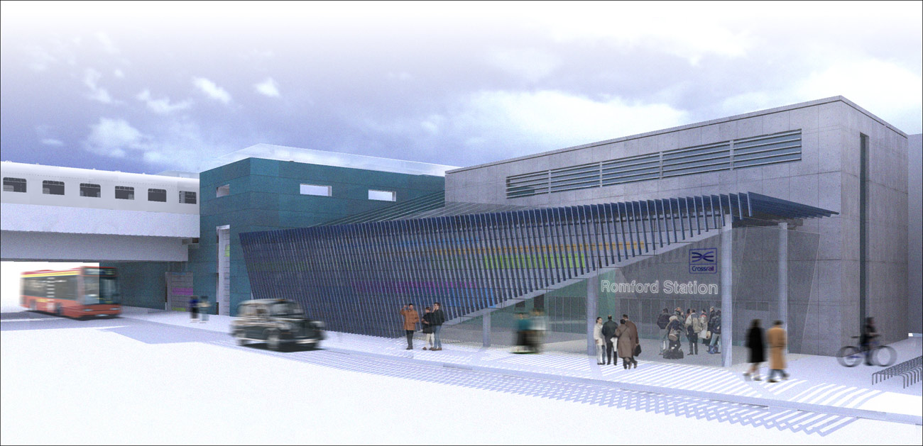 Romford Crossrail Street View by Marks Barfield Architects