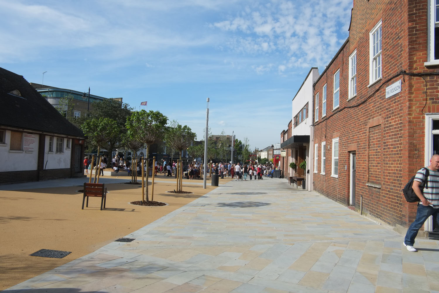 Clapham Gateway Public Realm by Marks Barfield Architects