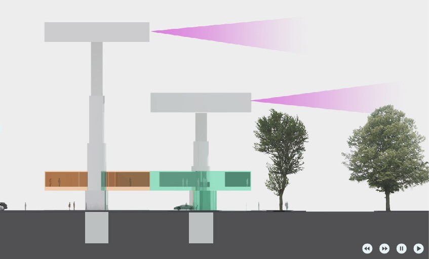 Villa Hush Hush View Concept Diagram by Marks Barfield Architects