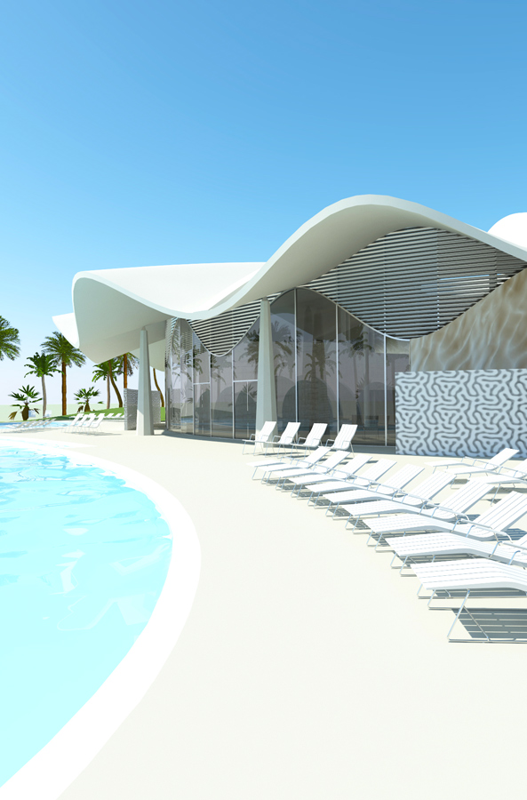 Abyaar Clubhouse CGI by Marks Barfield Architects
