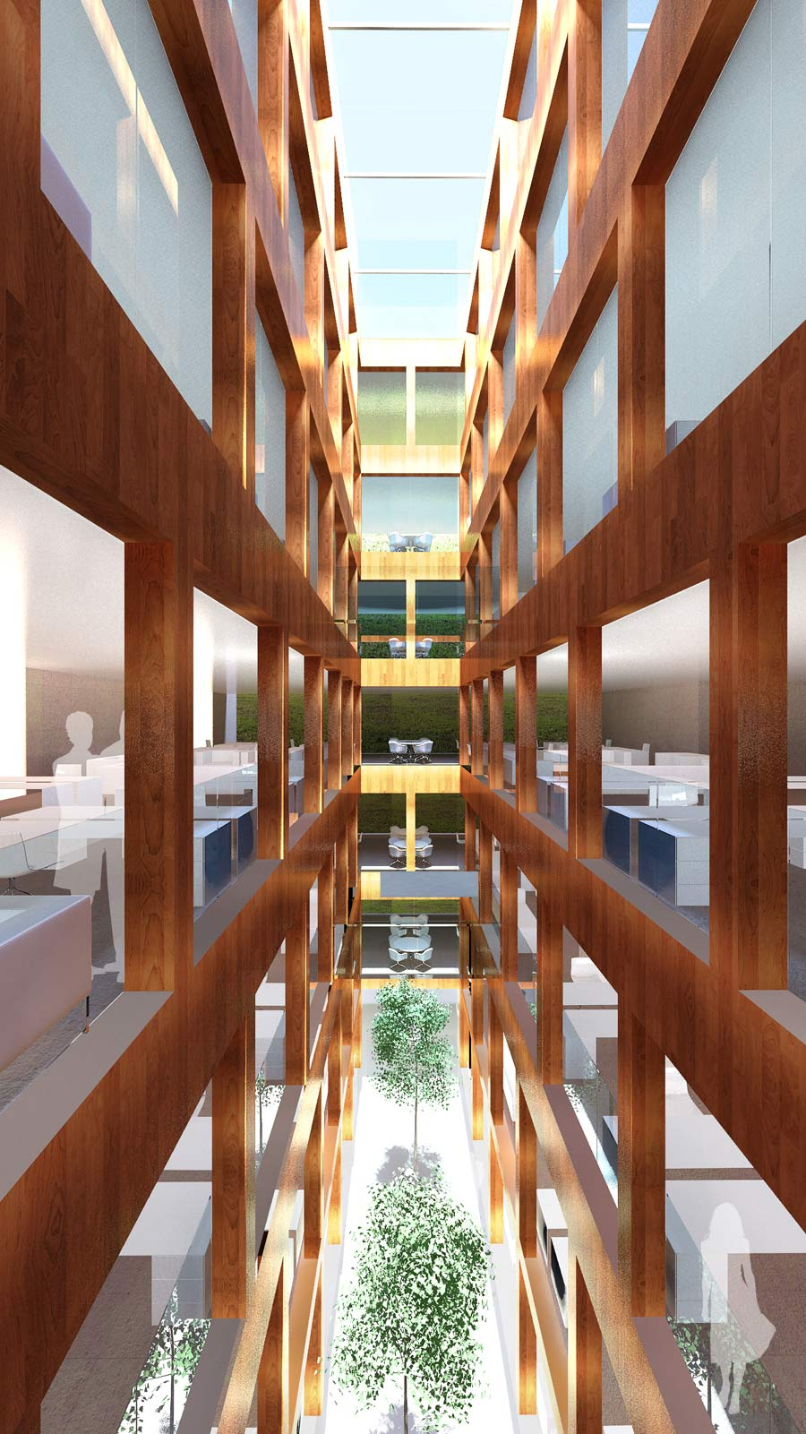 Victoria Embankment Atrium by Marks Barfield Architects