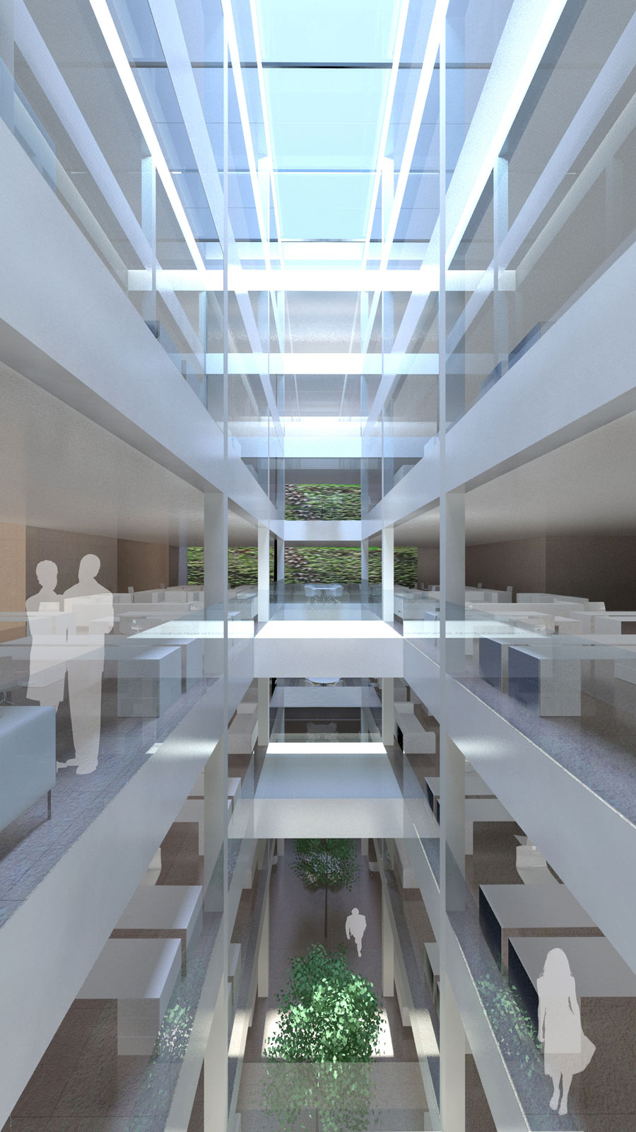 Victoria Embankment Atrium Massing by Marks Barfield Architects