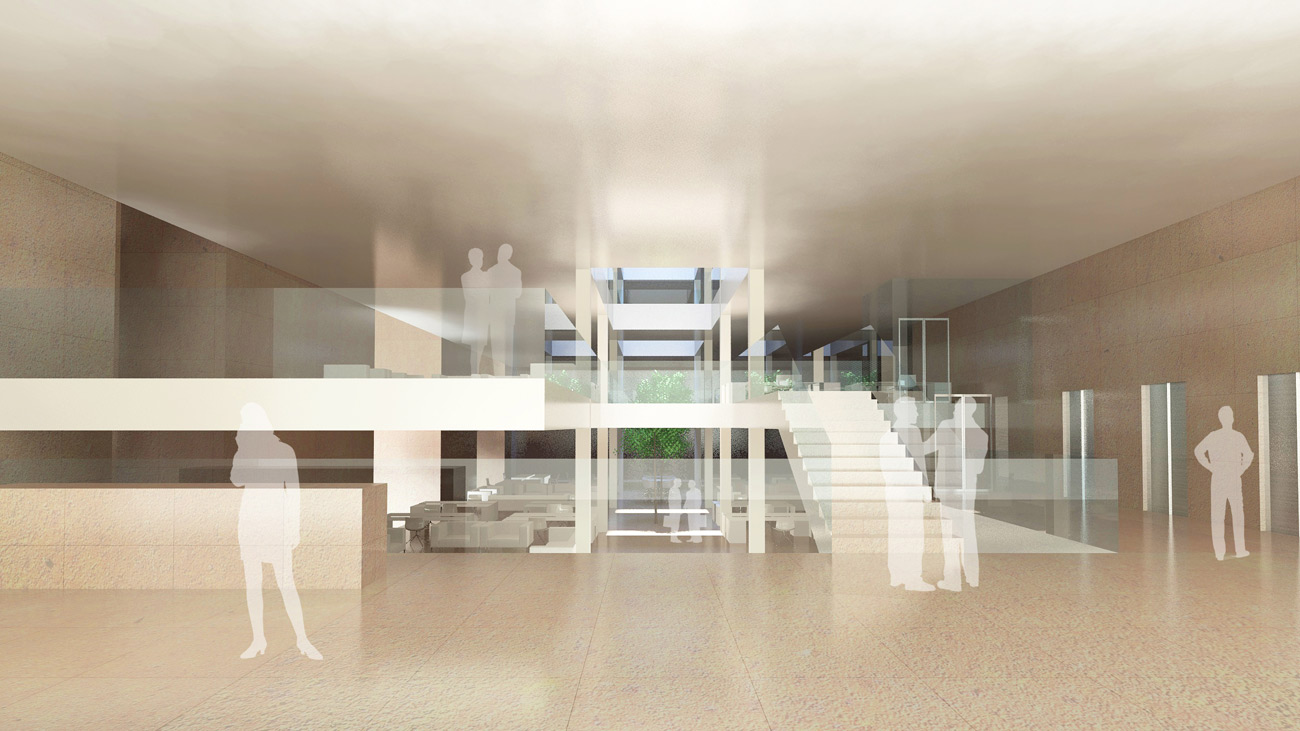 Victoria Embankment Reception Massing by Marks Barfield Architects