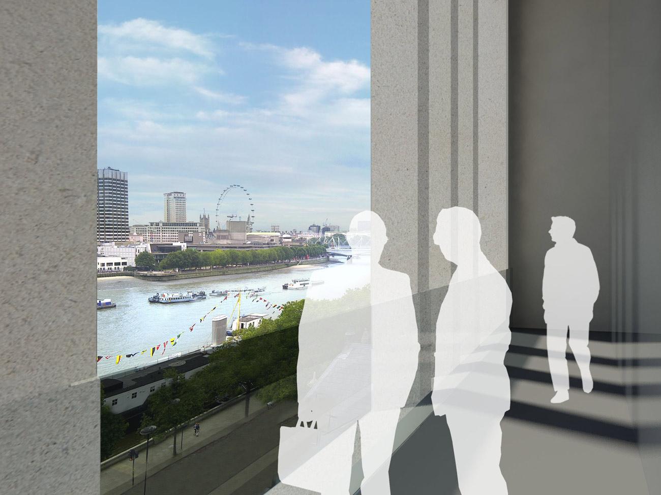 Victoria Embankment Balcony by Marks Barfield Architects