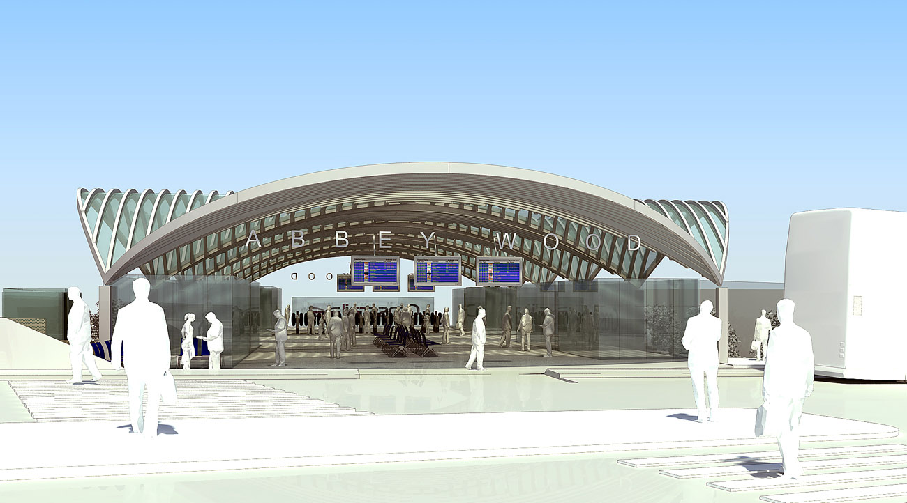 Abbey Wood Interchange Approach by Marks Barfield Architects