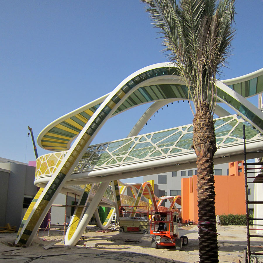 magic carpet walkway - Bayt Abdullah, Children's Hospice by Marks Barfield Architects