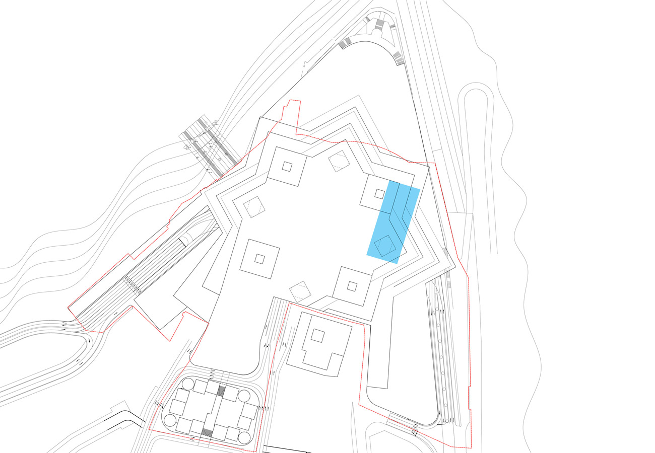 site plan - Chaotianmen Square, Chongqing by Marks Barfield Architects