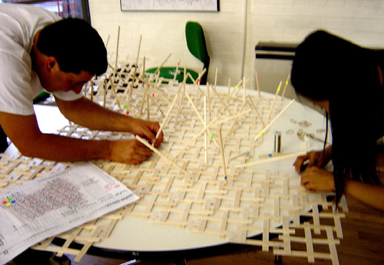 joinedupdesignforschools plywood model making by Marks Barfield Architects