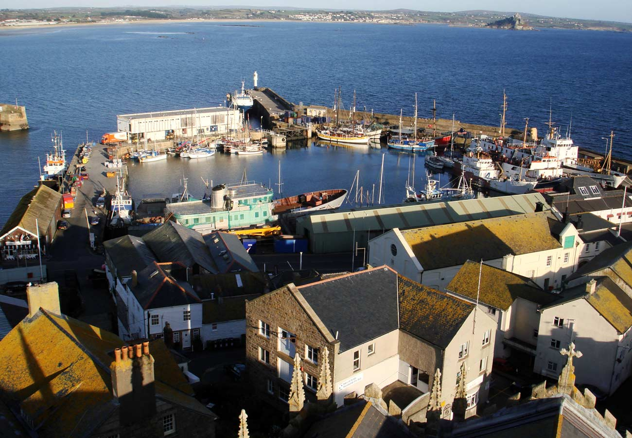 Penzance Hotel Aerial Photograph by Marks Barfield Architects