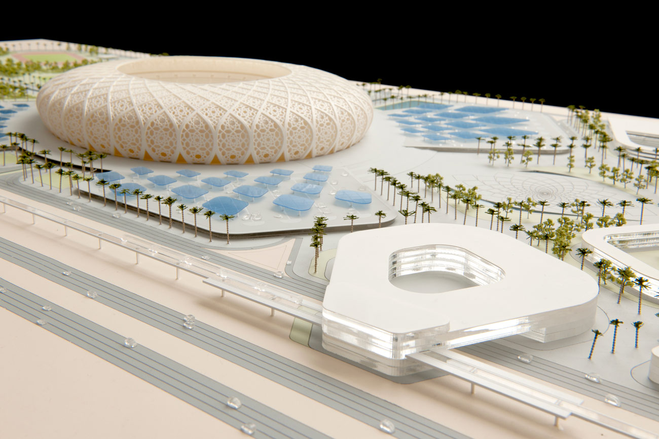 stadium model - King Abdullah Sports Oasis by Marks Barfield Architects