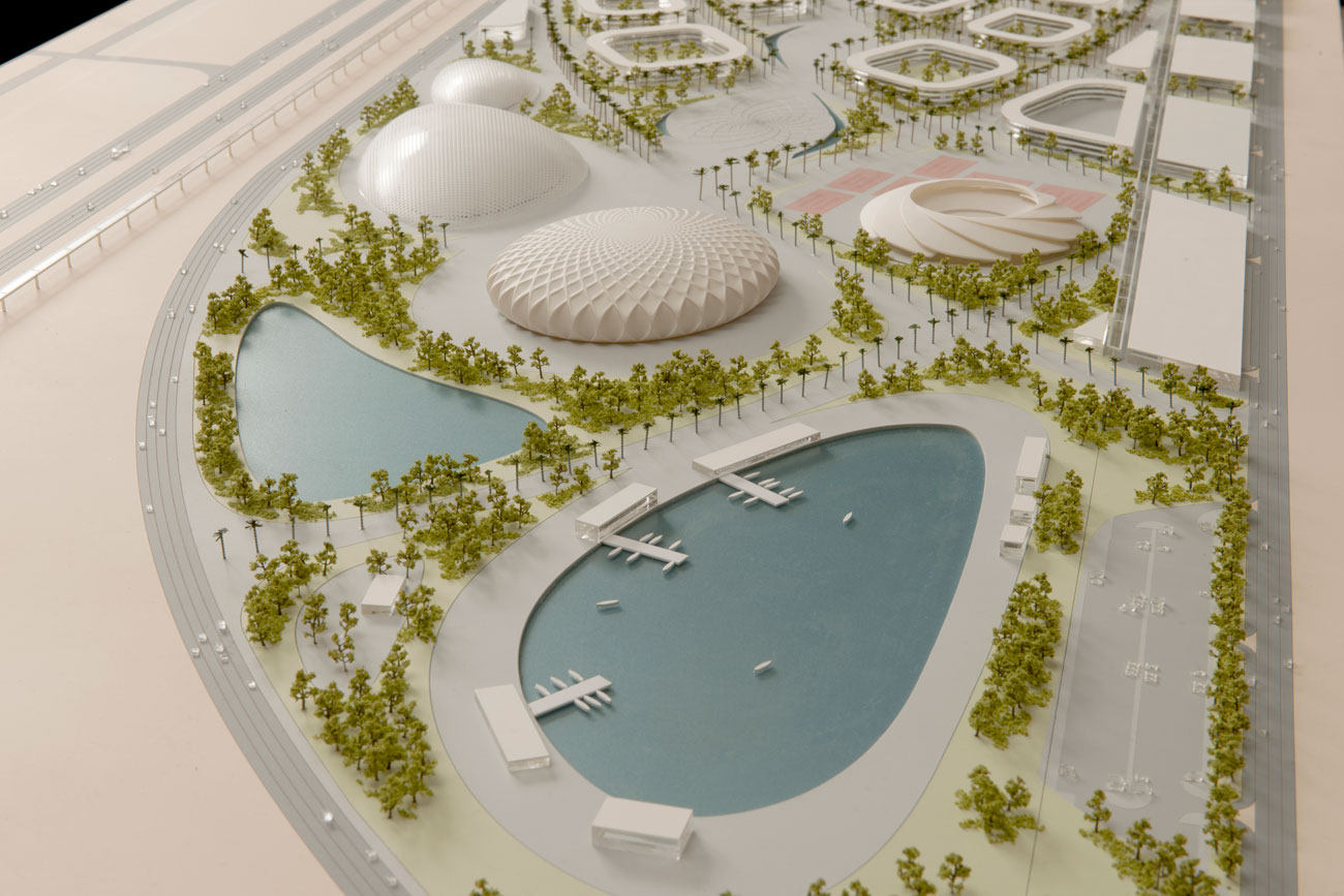 model - King Abdullah Sports Oasis by Marks Barfield Architects