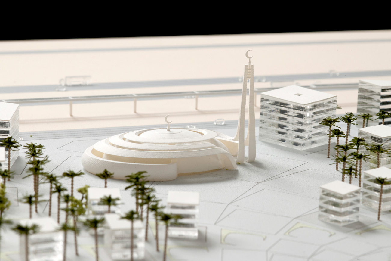 mosque model - King Abdullah Sports Oasis by Marks Barfield Architects