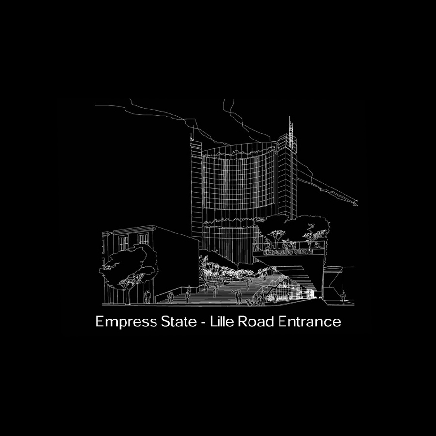 empress state entrance sketch by Marks Barfield Architects