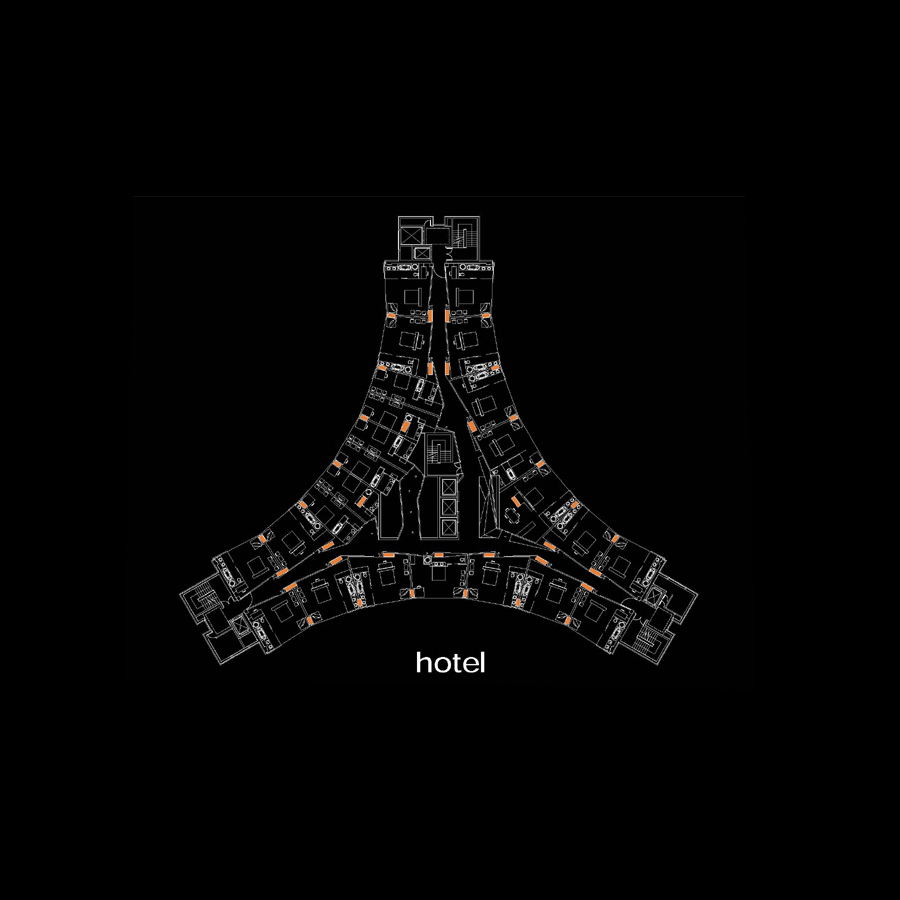 empress state hotel plan by Marks Barfield Architects