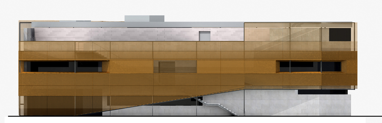 East London Line Facade Elevation by Marks Barfield Architects