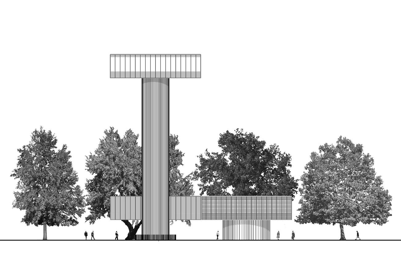 Villa Hush Hush Elevation Up by Marks Barfield Architects