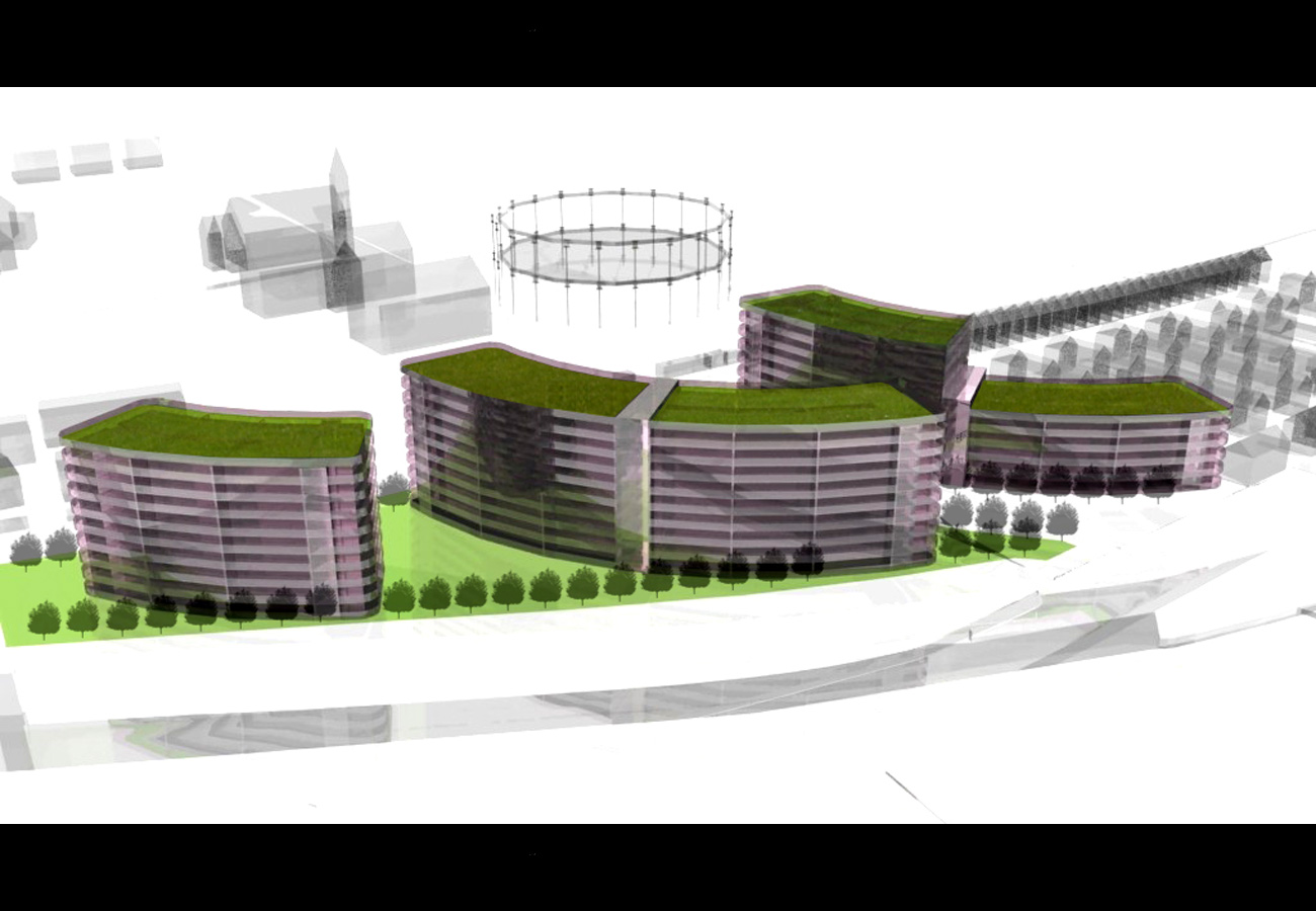 Liverpool Edge Aerial CGI by Marks Barfield Architects
