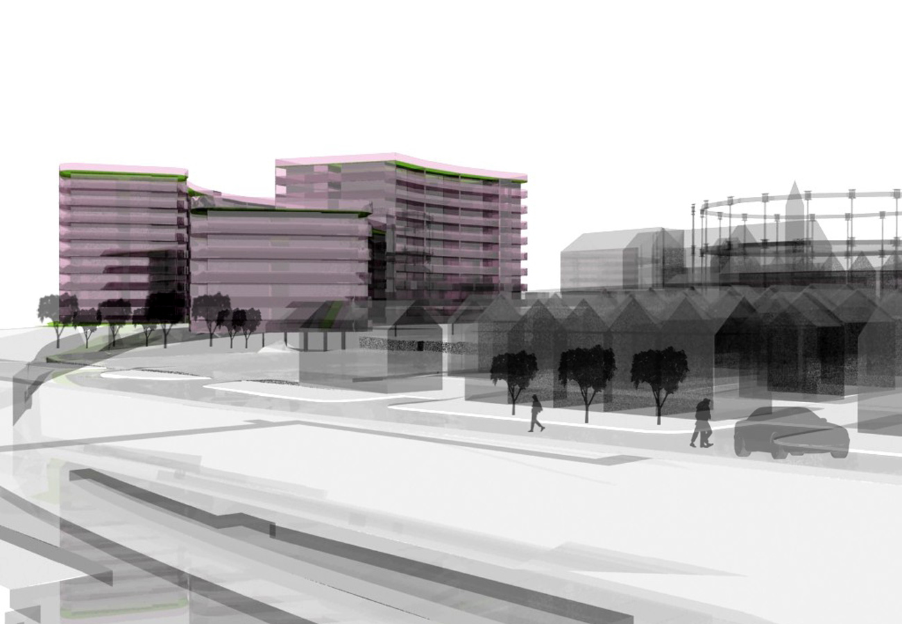 Liverpool Edge Concept CGI by Marks Barfield Architects