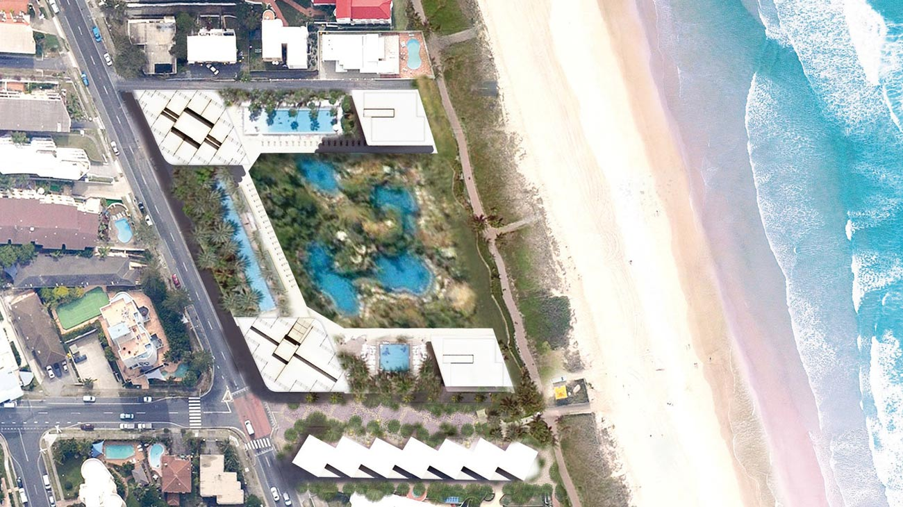 Gold Coast Mixed Use Development Top View by Marks Barfield Architects
