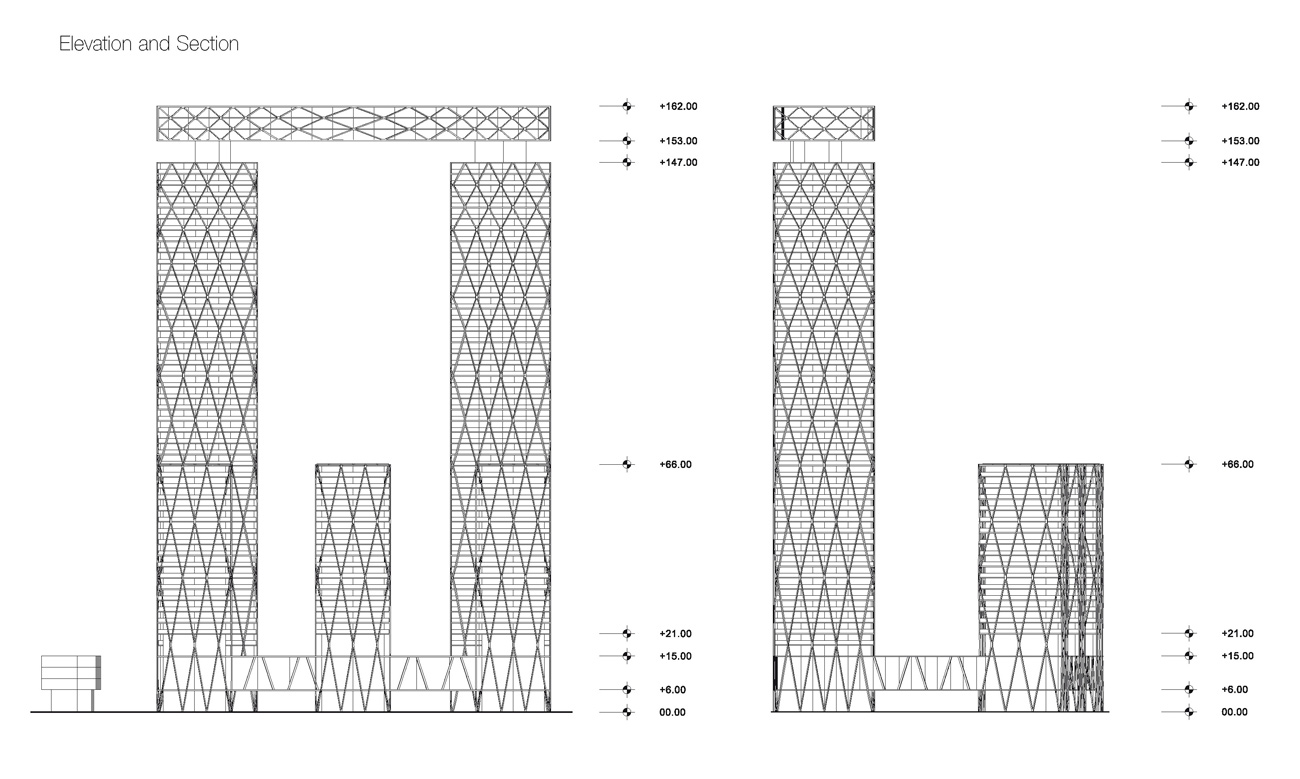 Gold Coast Mixed Use Development Elevation by Marks Barfield Architects