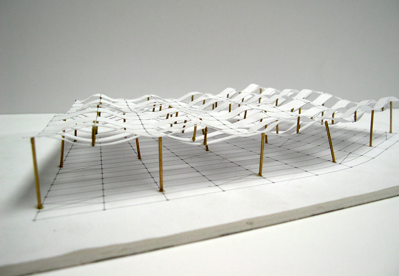 Highbury + Islington roof Concept Model by Marks Barfield Architects