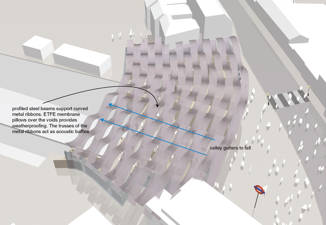 Highbury + Islington Roof Diagram by Marks Barfield Architects
