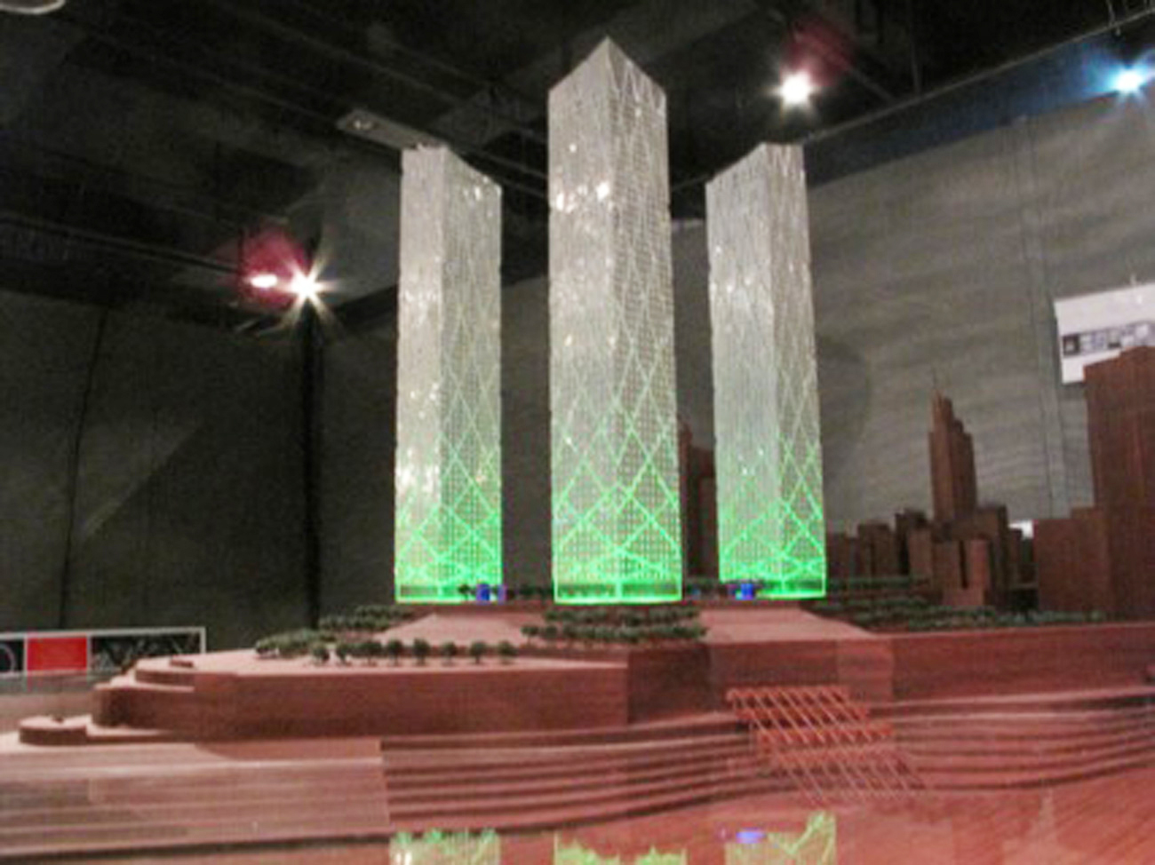 model - Chaotianmen Square, Chongqing by Marks Barfield Architects