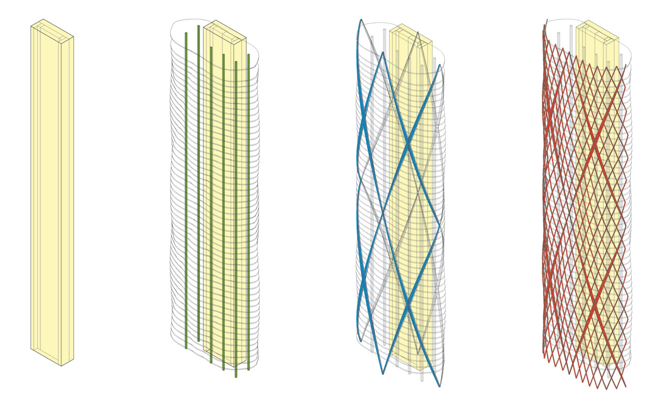 Jeddah Tower Residences Structural Diagram by Marks Barfield Architects