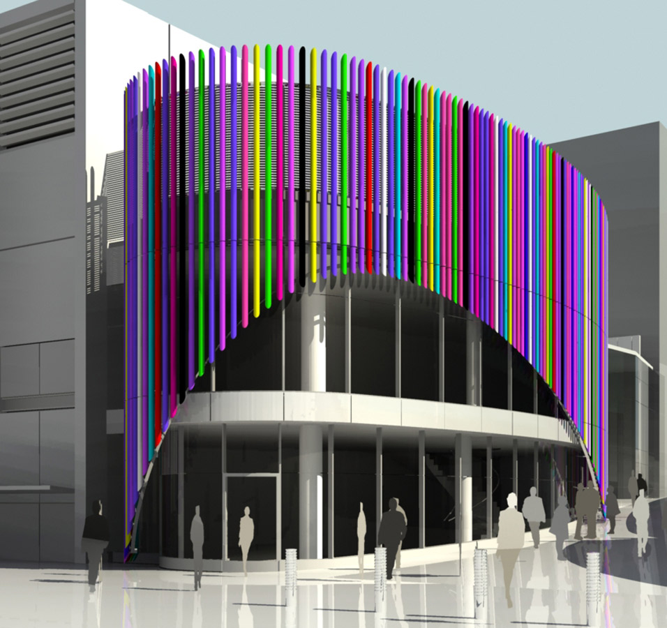 facade view - Liverpool One Costa Cafe by Marks Barfield Architects