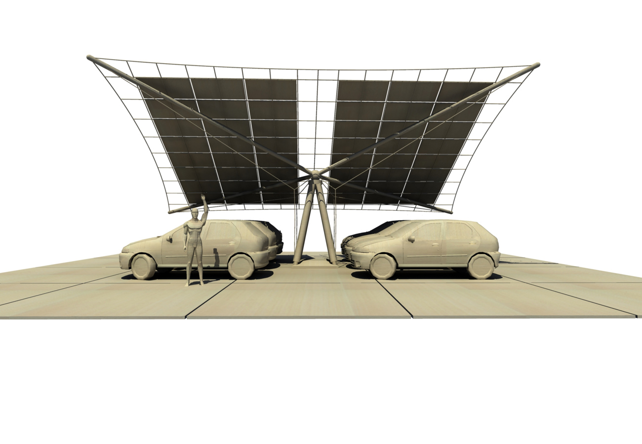 PV Car Port CGI view by Marks Barfield Architects