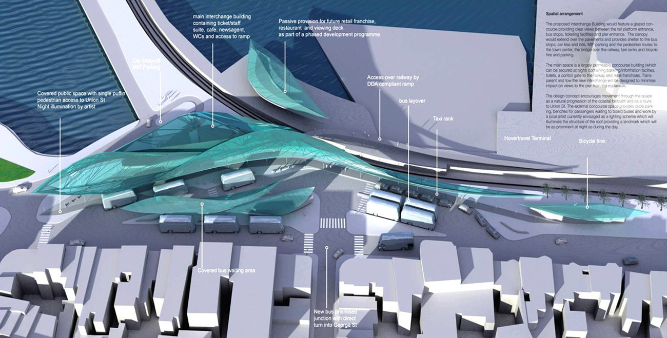 Ryde Interchange Design Program Diagram by Marks Barfield Architects