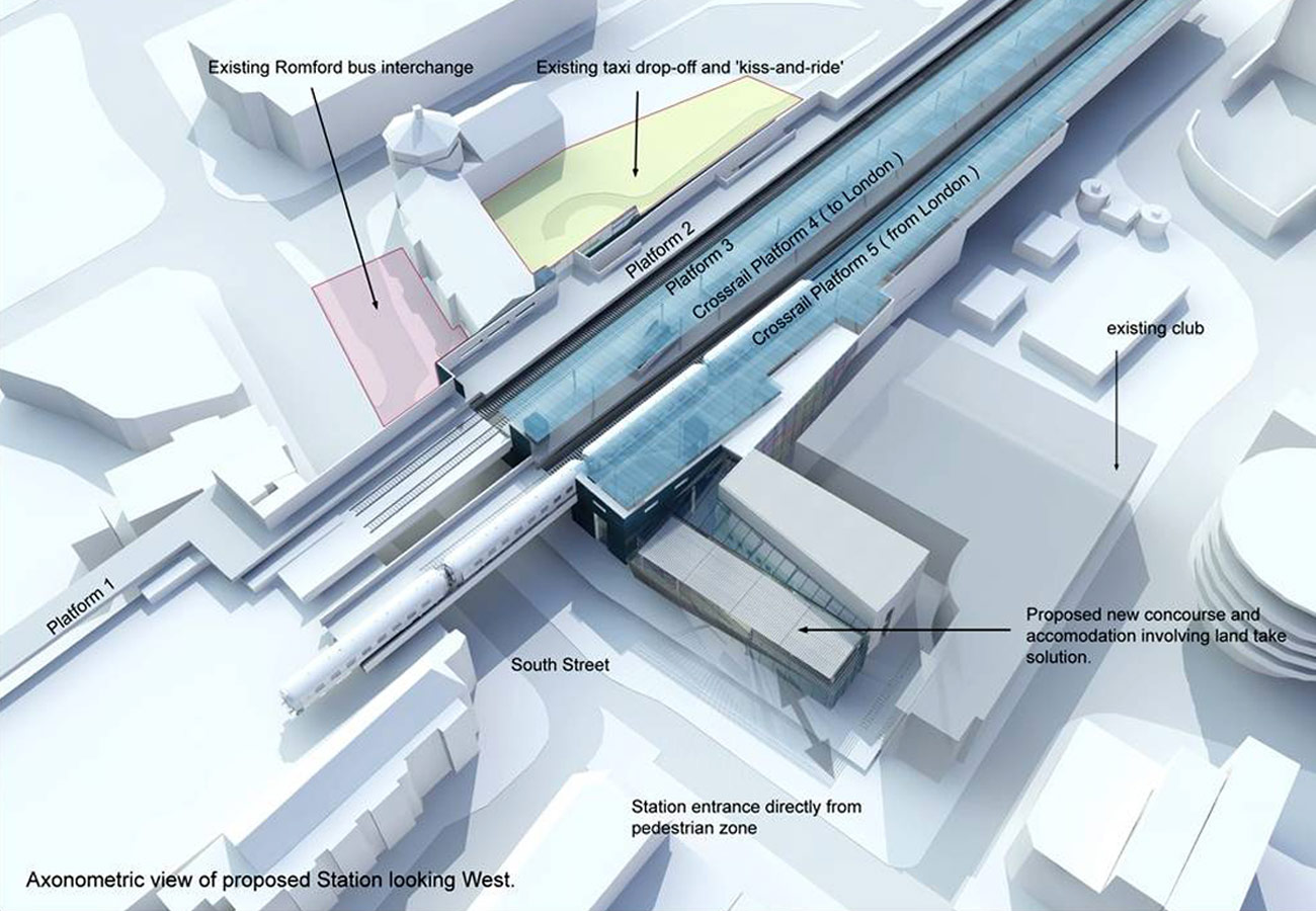 Romford Crossrail Diagram by Marks Barfield Architects