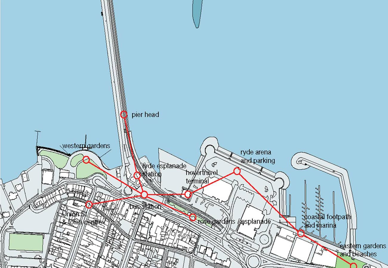 Ryde Interchange Connections Diagram by Marks Barfield Architects