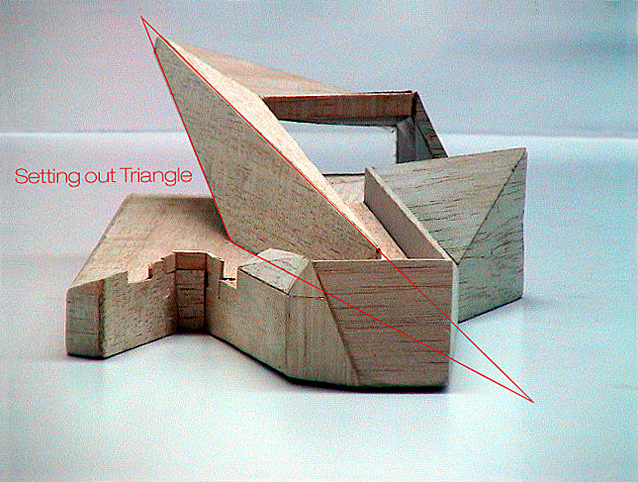 Mill Bank Pier Wooden Model Triangle by Marks Barfield Architects