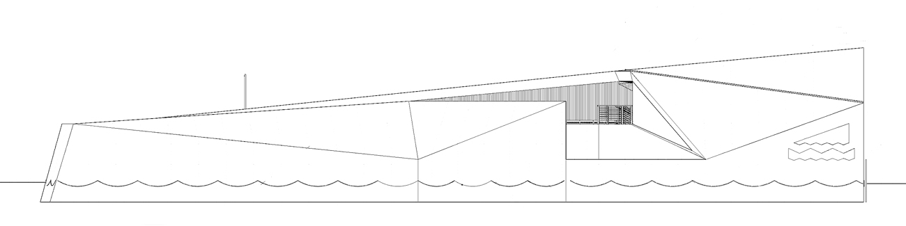 Mill Bank Pier Elevation by Marks Barfield Architects