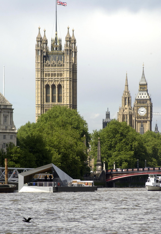 Mill Bank Millennium Pier Big Ben View by Marks Barfield Architects