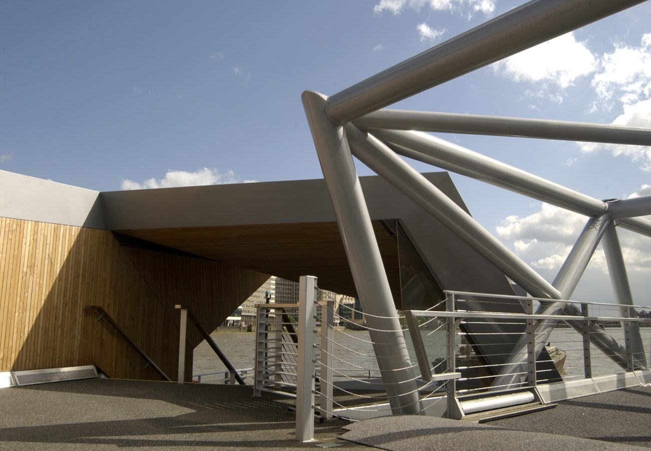 Mill Bank Millennium Pier Deck View by Marks Barfield Architects