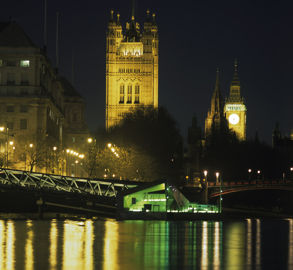 Mill Bank Big Ben Night Shot by Marks Barfield Architects