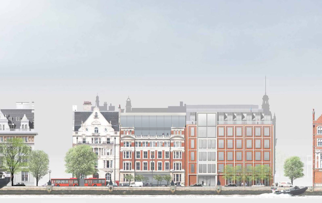 Victoria Embankment Original Elevation by Marks Barfield Architects