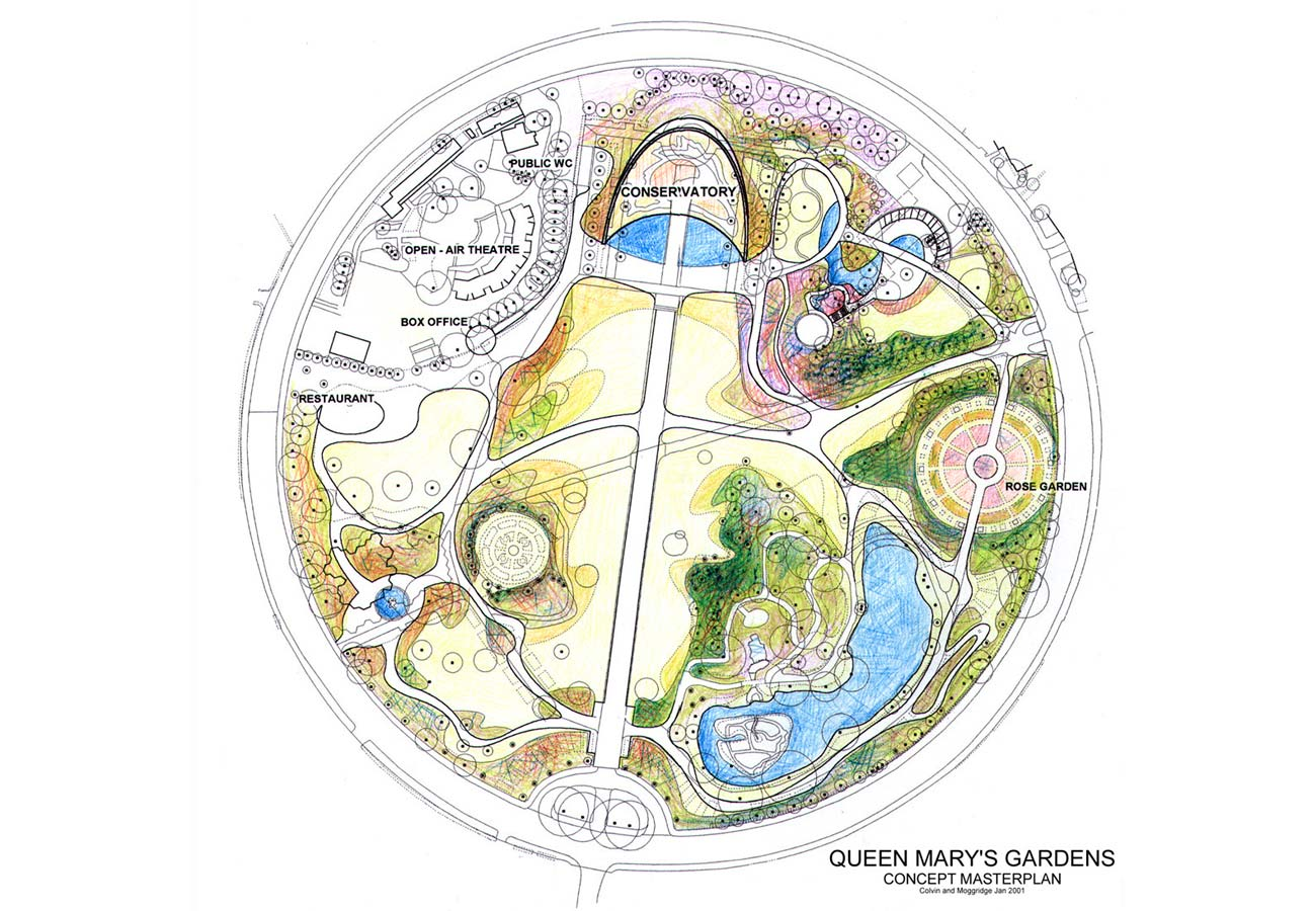Queens Mary Garden NEW PLAN 2001 by Marks Barfield Architects
