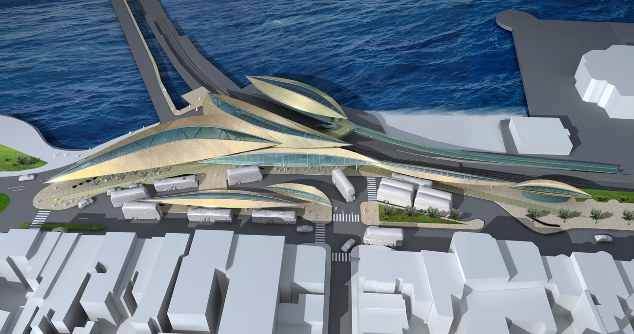 Ryde Interchange Top View by Marks Barfield Architects