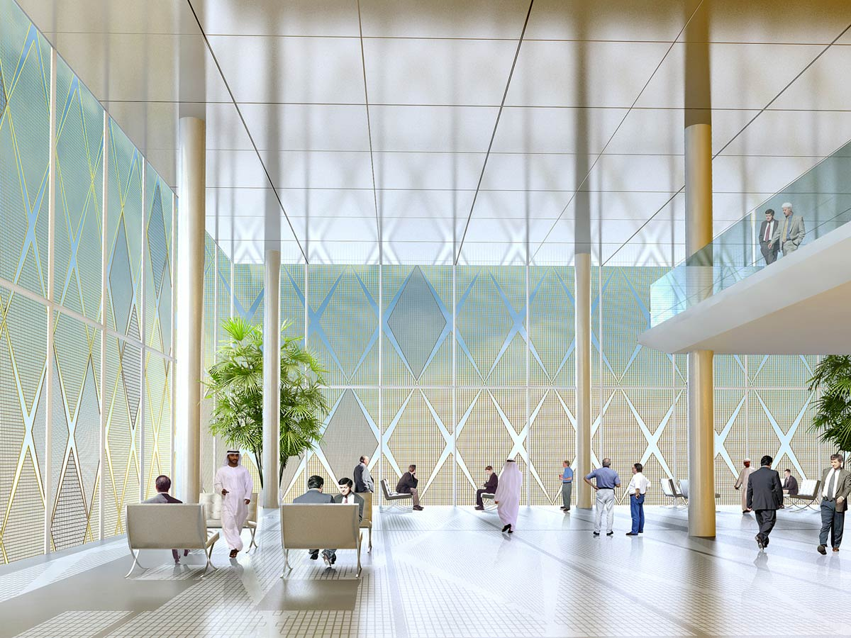 interior view - ITCC Offices by Marks Barfield Architects