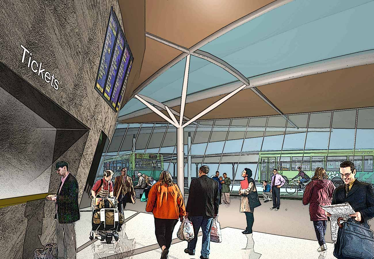 Ryde Interchange Interior View Tickets by Marks Barfield Architects