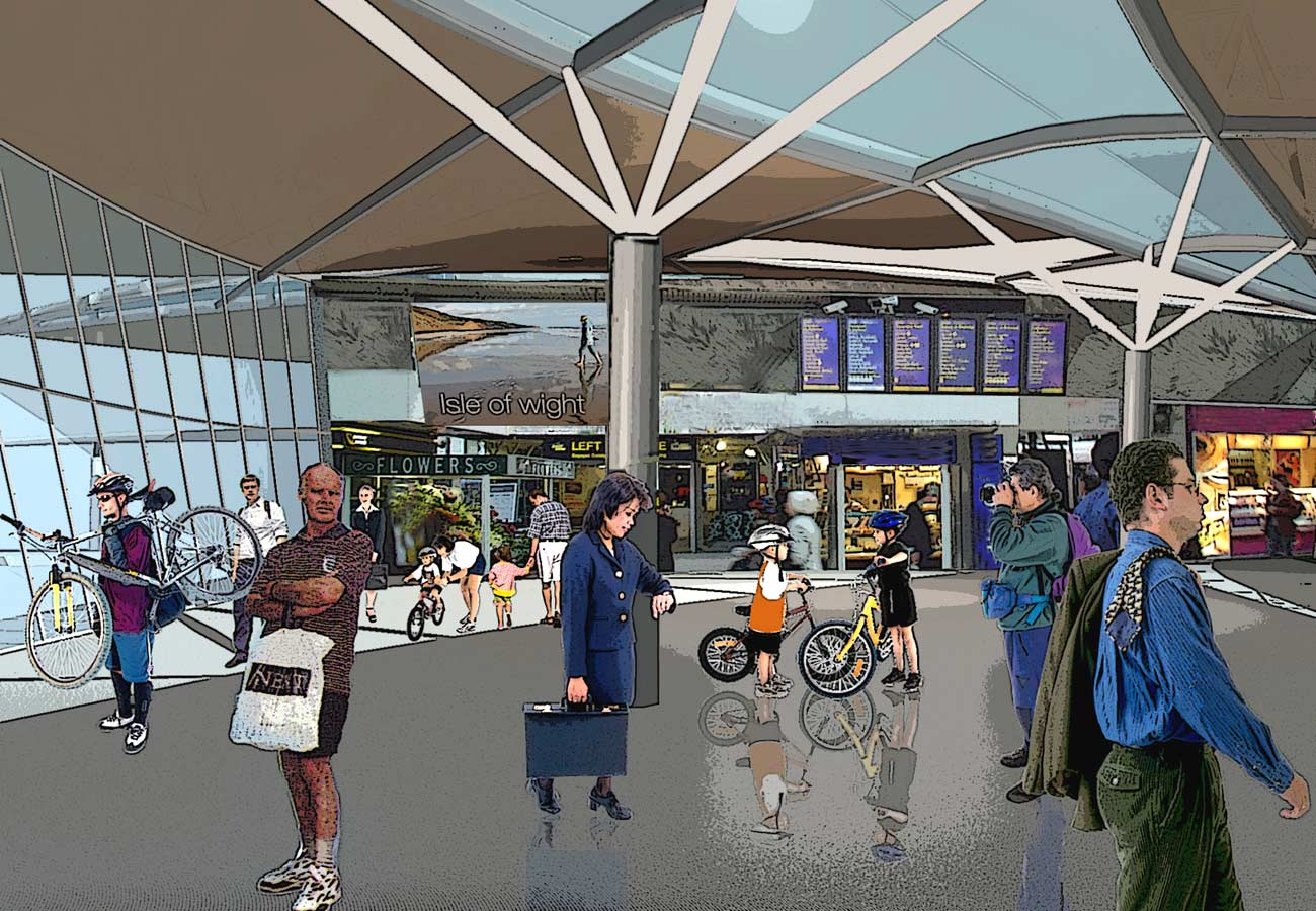 Ryde Interchange Interior View by Marks Barfield Architects