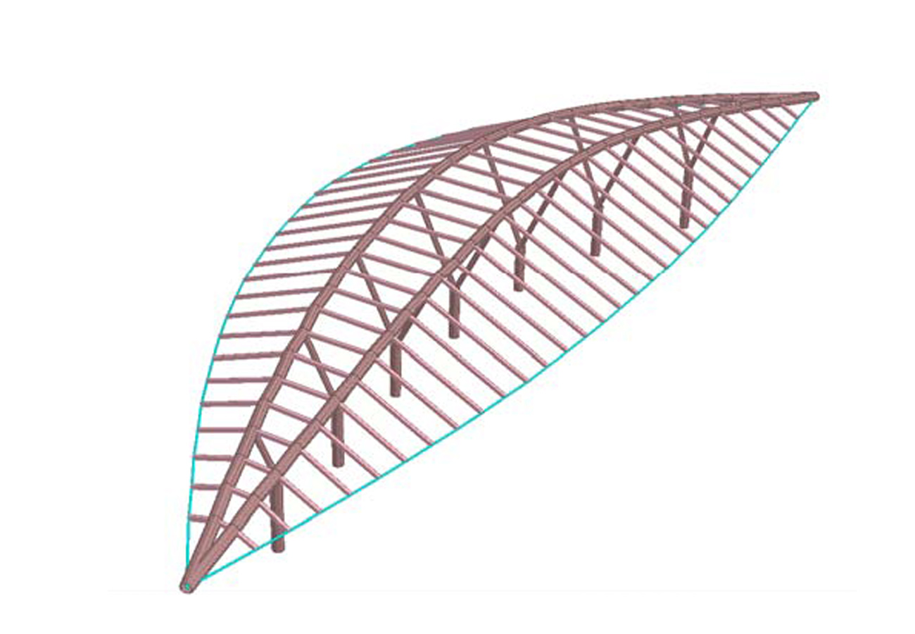 Ryde Interchange Aerial Roof Parametric Model by Marks Barfield Architects