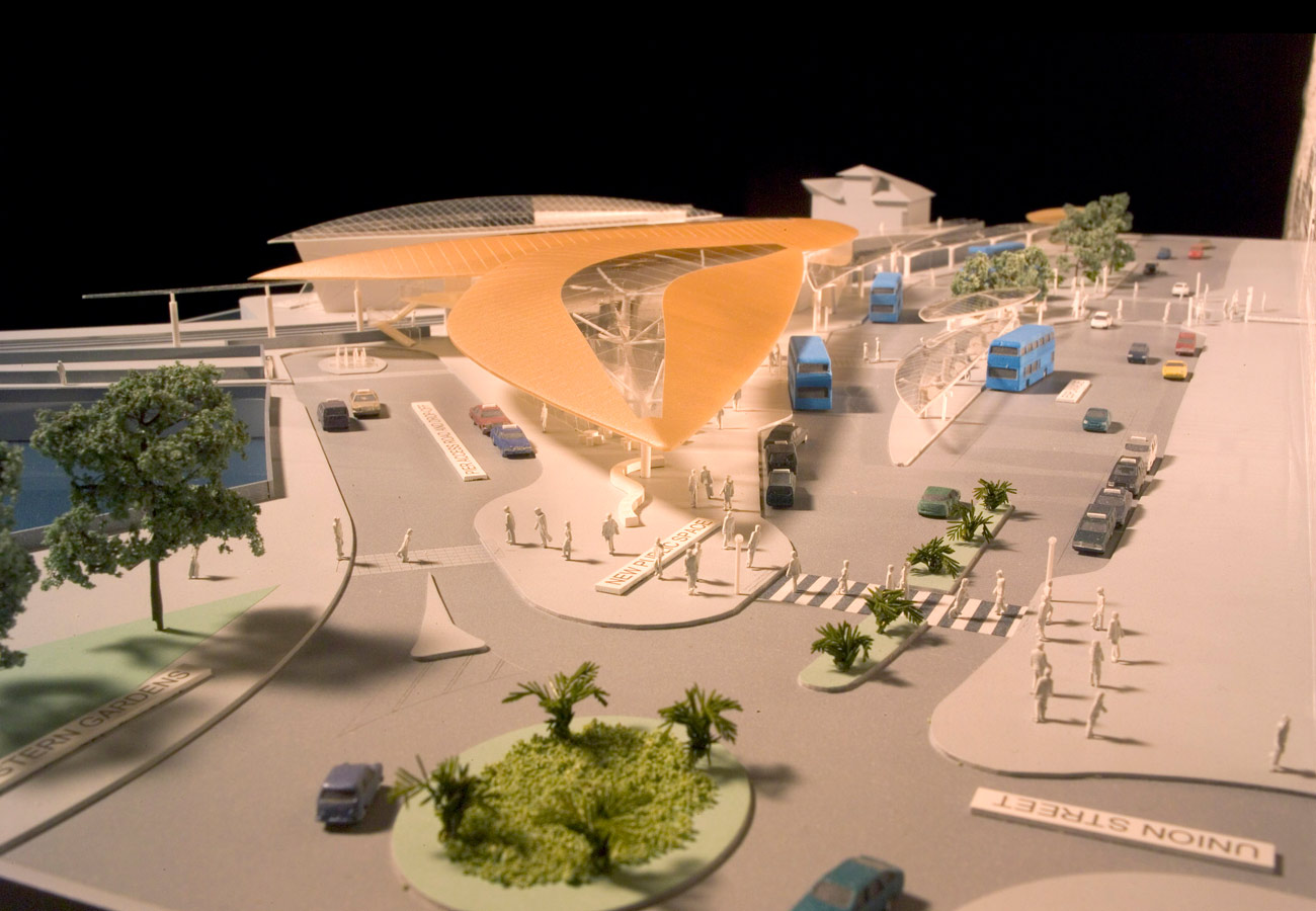 Ryde Interchange Model Picture by Marks Barfield Architects