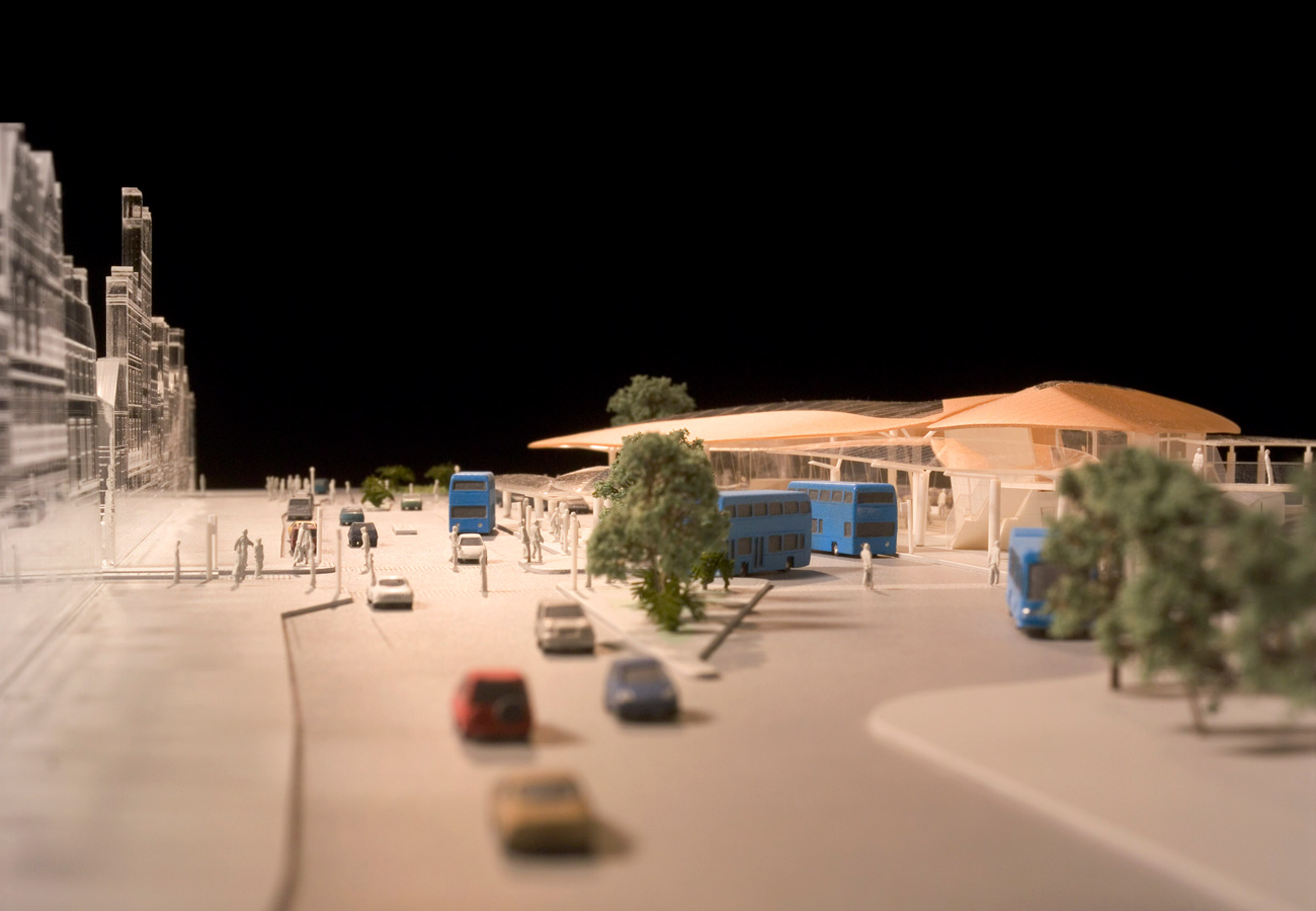 Ryde Interchange Approach Model Picture by Marks Barfield Architects