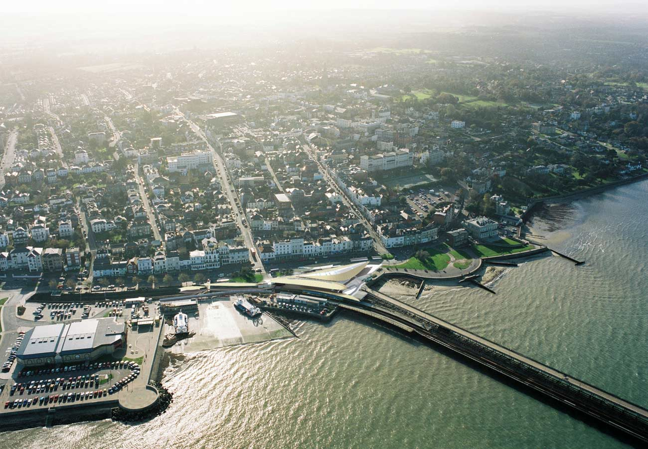 Ryde Interchange Aerial View by Marks Barfield Architects