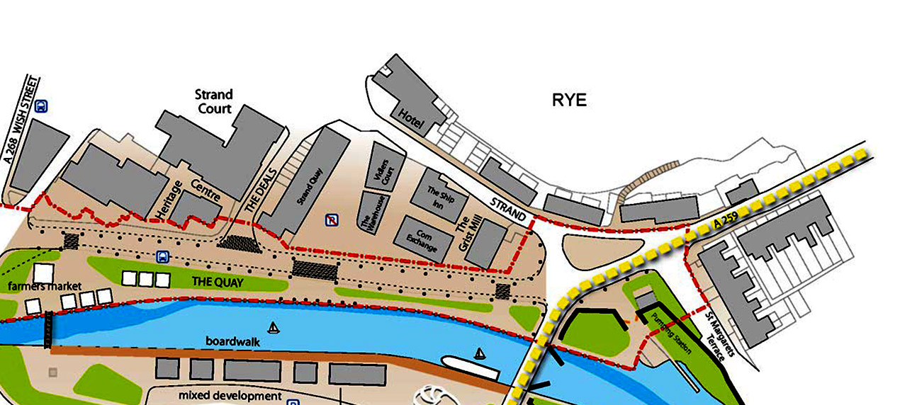 Rye Quayside Study by Marks Barfield Architects