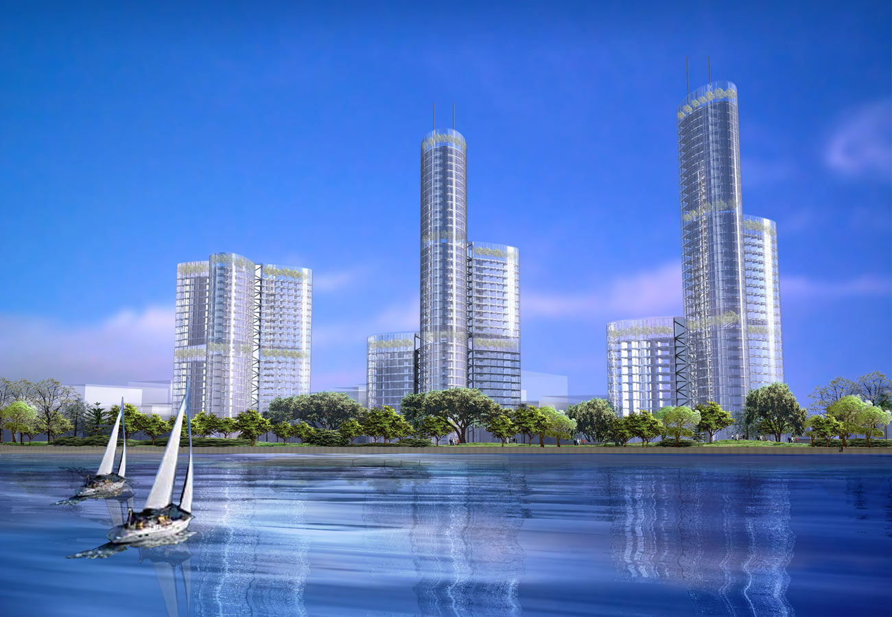 Skyhouse CGI view by Marks Barfield Architects